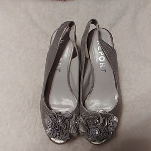 Silver bling shoes